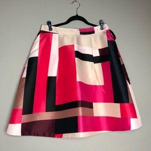 Kate Spade full pleated a-line geo skirt pockets